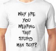 Donnie Darko - man suit (black font) Unisex T-Shirt