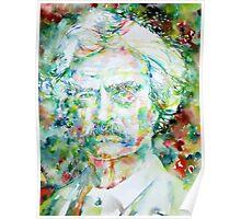 MARK TWAIN - watercolor portrait Poster