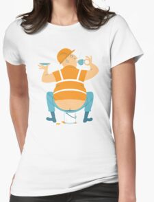 Builder's Tea Womens Fitted T-Shirt
