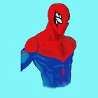 Spider-Man Alternative Suit Design Bust (Blue) by strkr241