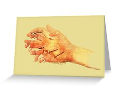 Sun hands 01 Greeting Card