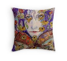 Rhythm of the Wildflower - Rikki Throw Pillow