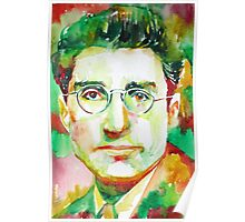 CESARE PAVESE / watercolor portrait Poster