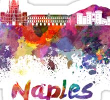 Naples skyline in watercolor Sticker