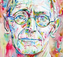 HERMANN HESSE watercolor portrait.2 by lautir