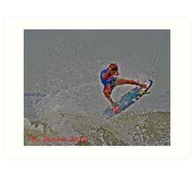 Wahoo!!!  Surfer Action!! Art Print