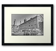 St Katherine's Dock London sketch Framed Print