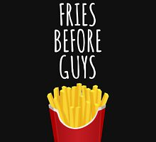 Fries before Guys - For dark Womens Fitted T-Shirt
