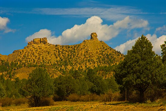 Chimney Rock Colorado by Jay  Goode