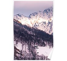 Sunshine on the snowy mountainsides Poster