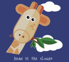 Head in the Clouds - Giraffe Design T Shirt by BlueShift