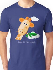 Head in the Clouds - Giraffe Design T Shirt Unisex T-Shirt
