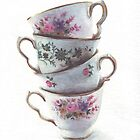 Classic Teacups Stack by Helga McLeod by HelgaMcLeod
