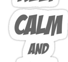 Keep Calm Eat Jaffas Sticker
