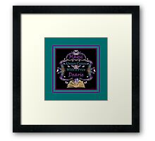 Magic Always Comes With A Price Dearie Turquoise Butterfly Collection Also Available In Purple, And Black Framed Print