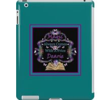 Magic Always Comes With A Price Dearie Turquoise Butterfly Collection Also Available In Purple, And Black iPad Case/Skin