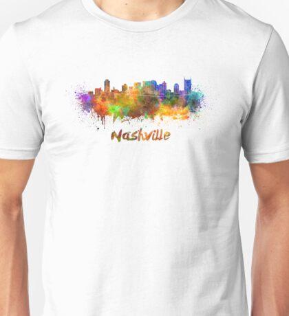 Nashville skyline in watercolor Unisex T-Shirt
