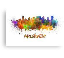 Nashville skyline in watercolor Canvas Print