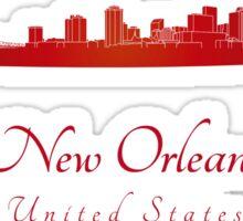 New Orleans skyline in red Sticker