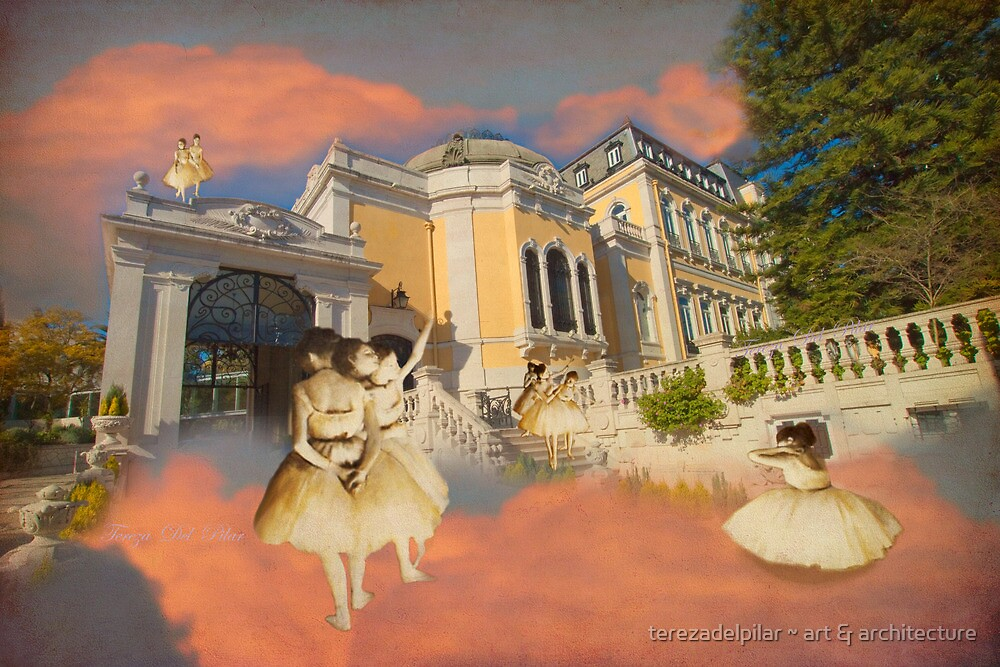 Degas ballet dancers at Vale Flor Palace in Lisbon. by terezadelpilar ~ art & architecture