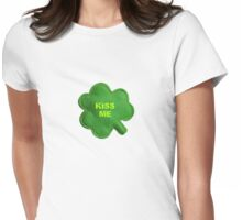 Saint Patrick's Day lucky kiss me Womens Fitted T-Shirt