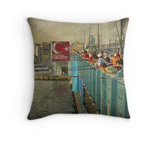 The beating of the Galata Bridge Throw Pillow