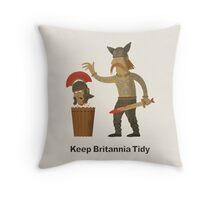 Keep Britannia Tidy Throw Pillow