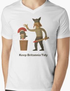 Keep Britannia Tidy Mens V-Neck T-Shirt