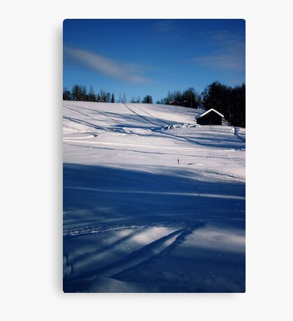 Snowy Hillside Canvas Print