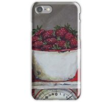 Strawberries on scale  iPhone Case/Skin