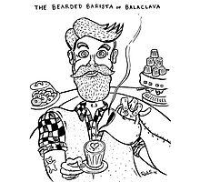 Bearded Barista of Balaclava Photographic Print