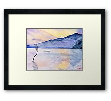 Morning Rays, Art Watercolor Painting print by Suisai Genki  Framed Print