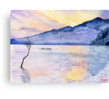 Morning Rays, Art Watercolor Painting print by Suisai Genki  Canvas Print