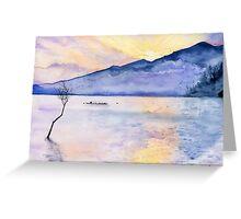 Morning Rays, Art Watercolor Painting print by Suisai Genki  Greeting Card