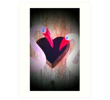 Heartfelt Flamingo's  Art Print