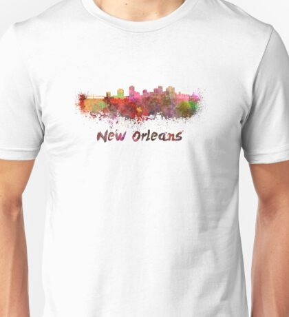 New Orleans skyline in watercolor Unisex T-Shirt