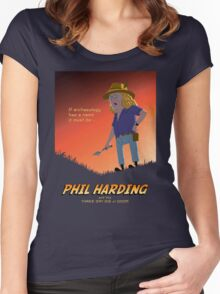 Phil Harding - Time Team Women's Fitted Scoop T-Shirt