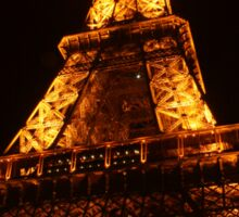 Glowing Gold Eiffel Sticker