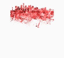 New York skyline in red watercolor on white background Unisex T-Shirt