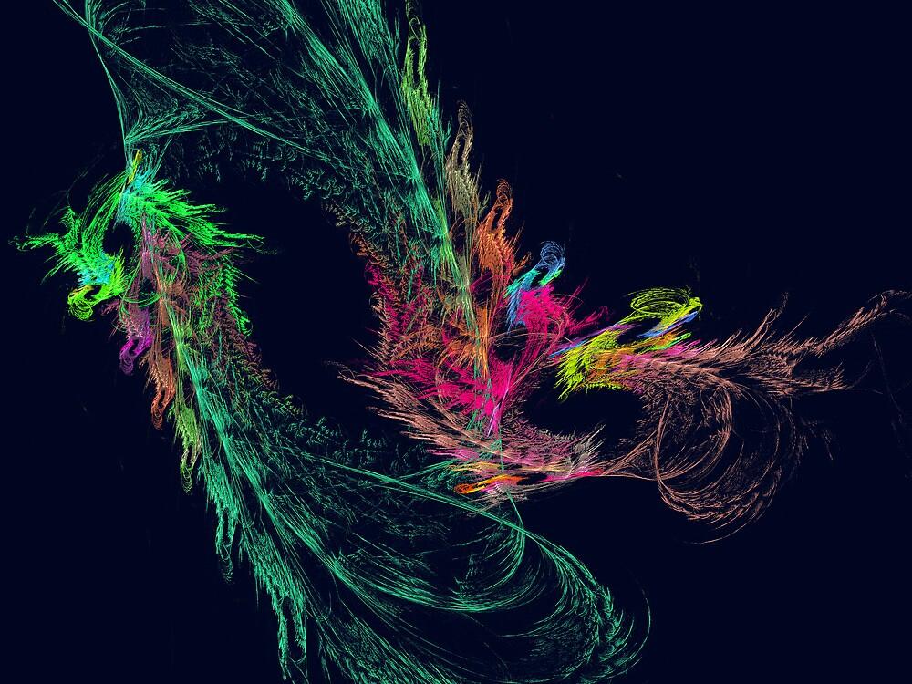 Fractal - Winged Dragon by Susan Savad