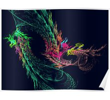 Fractal - Winged Dragon Poster