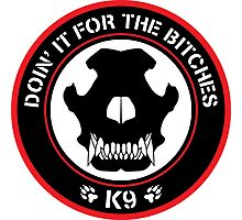 K9 Patch (Red and black) Photographic Print