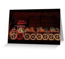 Santa train Greeting Card