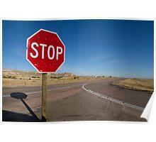 Stop Sign Nebraska  Poster