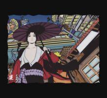 Sasuke and Naruto in Konoha by MariahDawn