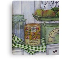 Scale and apples still life Canvas Print