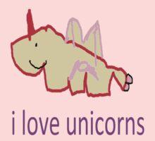i love unicorns  Kids Clothes