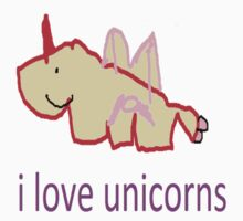 i love unicorns  Kids Clothes
