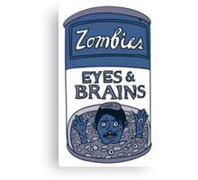 Zombies - Brains & Eyes Soup Canvas Print