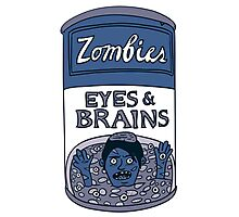 Zombies - Brains & Eyes Soup Photographic Print